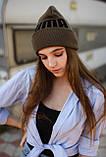 Шапка Puma /Шапка пума/шапка жіноча/шапка чоловіча/шапка хакі, фото 2