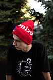 Шапка Reebok /Шапка рібок/шапка жіноча/шапка чоловіча/шапка червона, фото 2