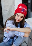 Шапка Reebok /Шапка рібок/шапка жіноча/шапка чоловіча/шапка червона, фото 3
