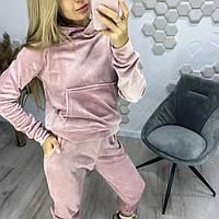 Женский осенний спортивный костюм норма и батал Новинка 2020 цвет розовый.