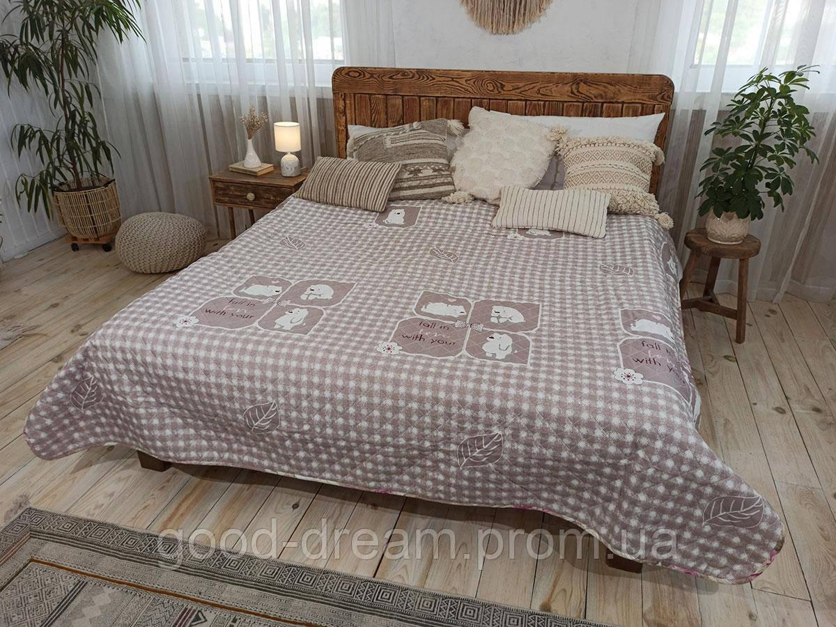 Одеяло-Покрывало полиэстер П-817 Leleka-Textile 140х205 цветной лето