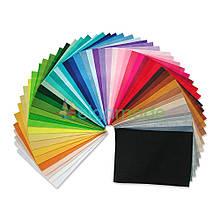 Фетр корейська м'який в наборі 50 кольорів, 1.2 мм, 22х30 см