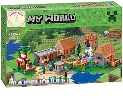 "Конструктор Майнкрафт Minecraft  ""Деревня"" 1622 деталей"