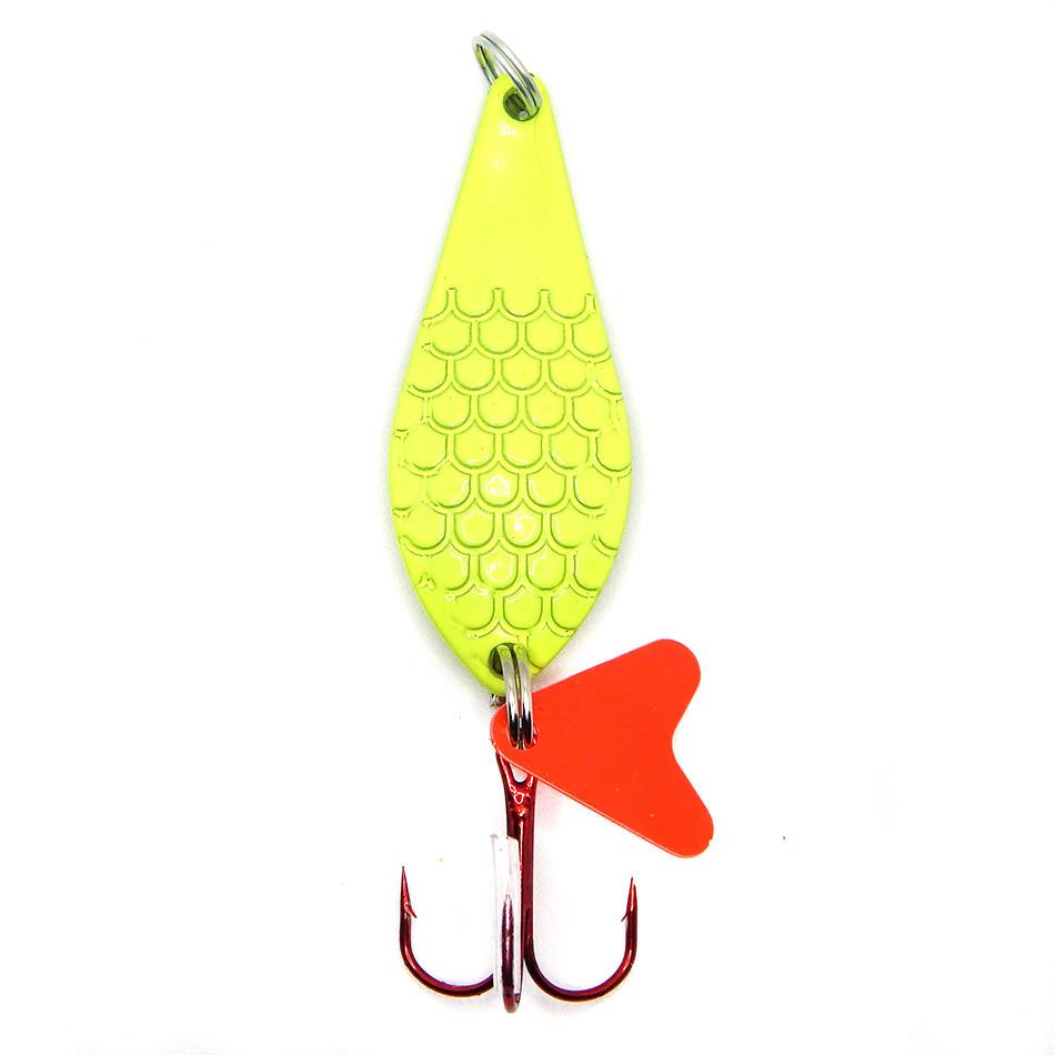 Колеблющаяся блесна Spinnex Atom 14г для ловли щуки цвет Лимон
