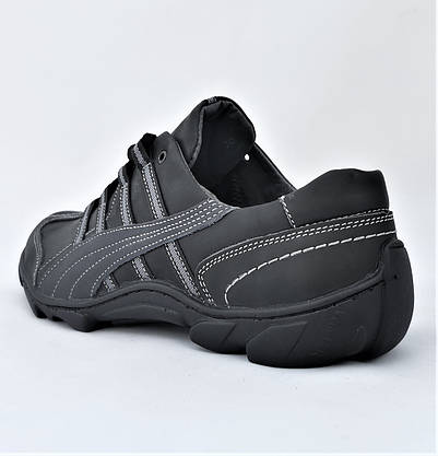 Шкіряні Мокасини Чоловічі Кросівки Чорні Туфлі (розміри: 40,41,42,44), фото 3