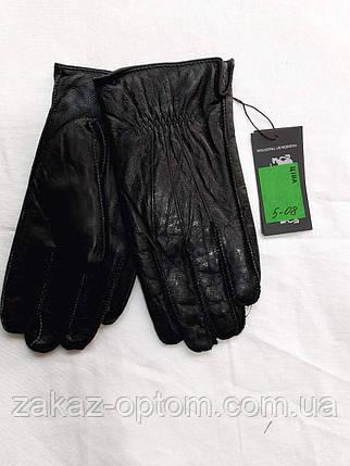 Мужские перчатки оптом кожа внутри плюшевая махра(10,5-12,5)Румыния 5-08-63217, фото 2