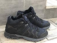 Зимние Кожаные ботинки Mans sport Е 5 син размеры 40,41,42,43,45, фото 1