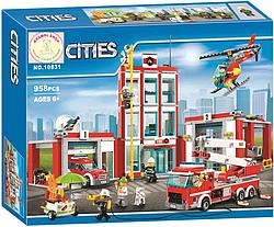 """Конструктор Bela 10831 (аналог Lego City 60110) """"Пожежна частина"""", 958 деталей"""