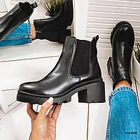 Черные короткие ботинки 36 размер, фото 1