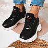 Черные легкие кроссовки из эко-кожи 36 размер