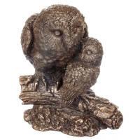 """Статуетка """"Сова з совенком"""" ( 14 см) (74523A1)"""