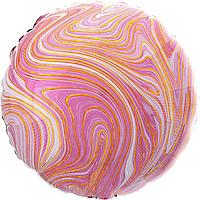 Фольгированный шар 18' Китай Агат розовый, 44 см