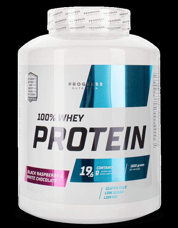 Протеин Progress Nutrition 100% WHEY PROTEIN 1800g ВАНИЛЬ