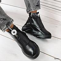 Зимние черные ботинки 36 размер 41