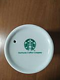 Керамическая стакан Starbucks с силиконовой крышкой-поилкой 300 мл, фото 5