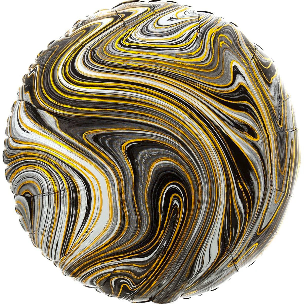 Фольгированный шар 18' Китай Агат черный, 44 см