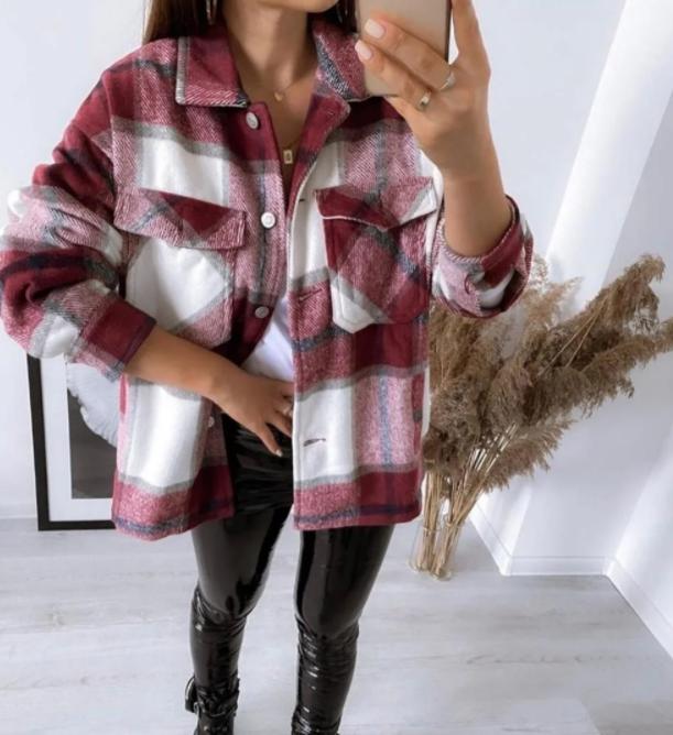 Теплая женская рубашка из утепленной байки 42-48