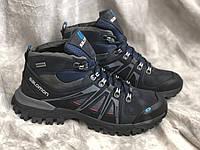 Зимние ботинки Кожаные S 1 син Mans sport размеры 40,41,42,43, фото 1