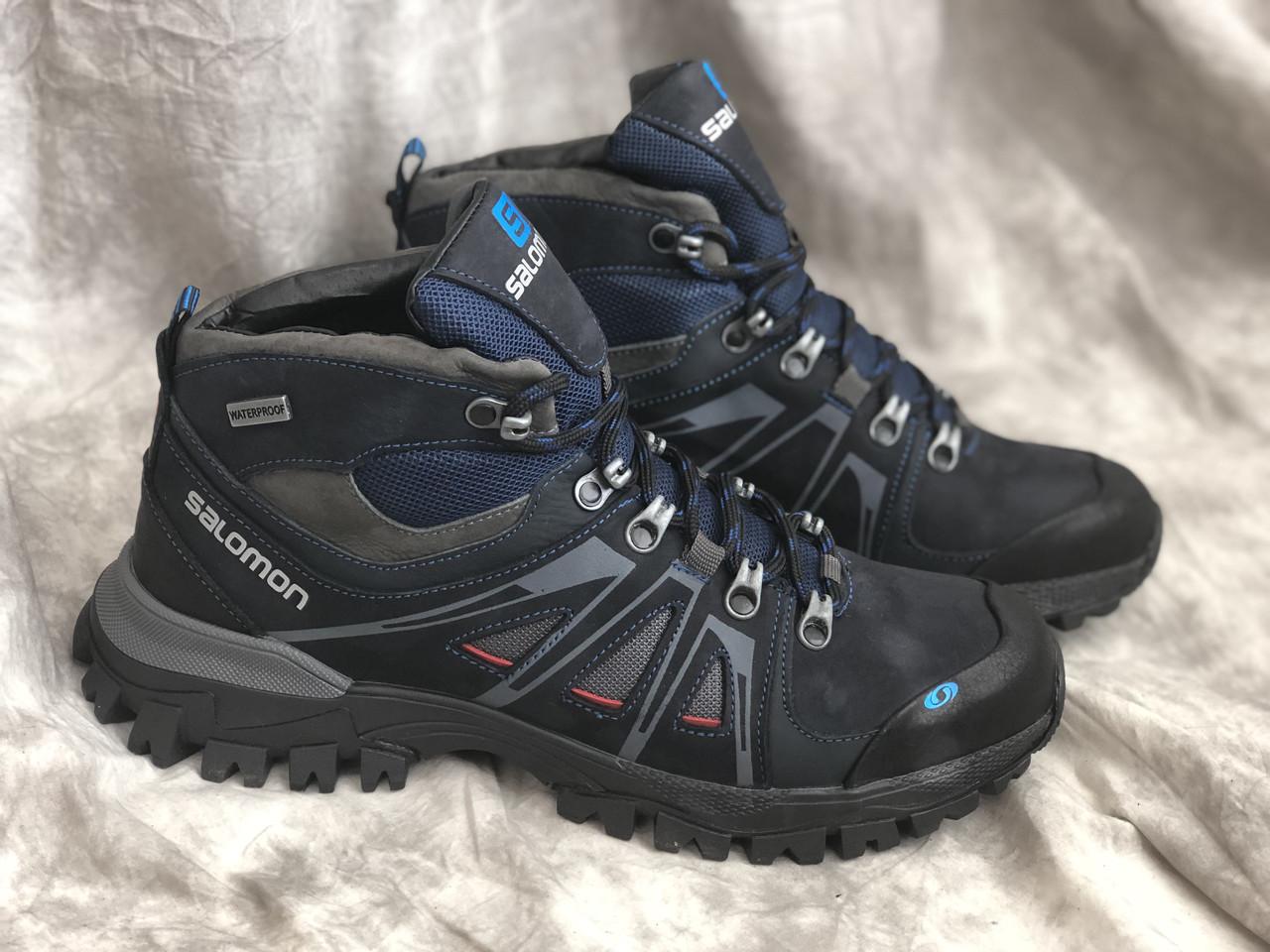 Зимние ботинки Кожаные S 1 син Mans sport размеры 40,41,42,43