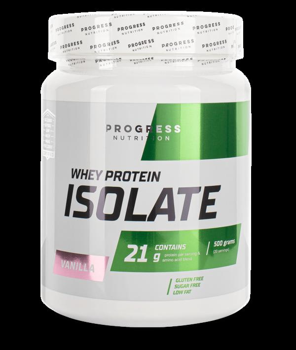 Протеин Progress Nutrition WHEY protein isolate 500g КЛУБНИКА