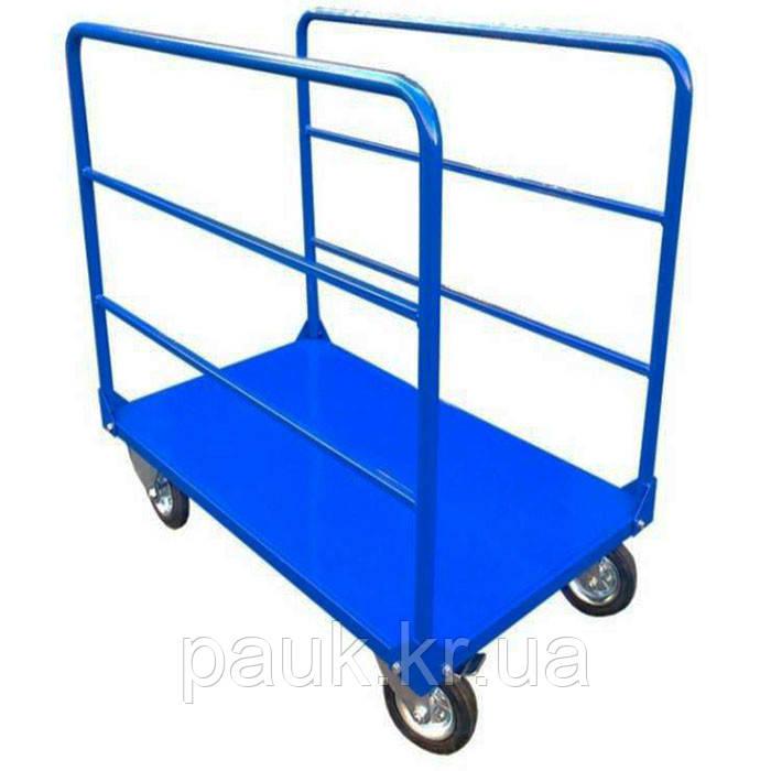 Тележка в магазин 800х1250 мм РПТ-011Д-200 М, платформенная тележка для длинномерных грузов