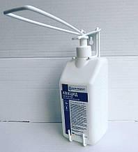 Локтевой металлический дозатор для антисептика