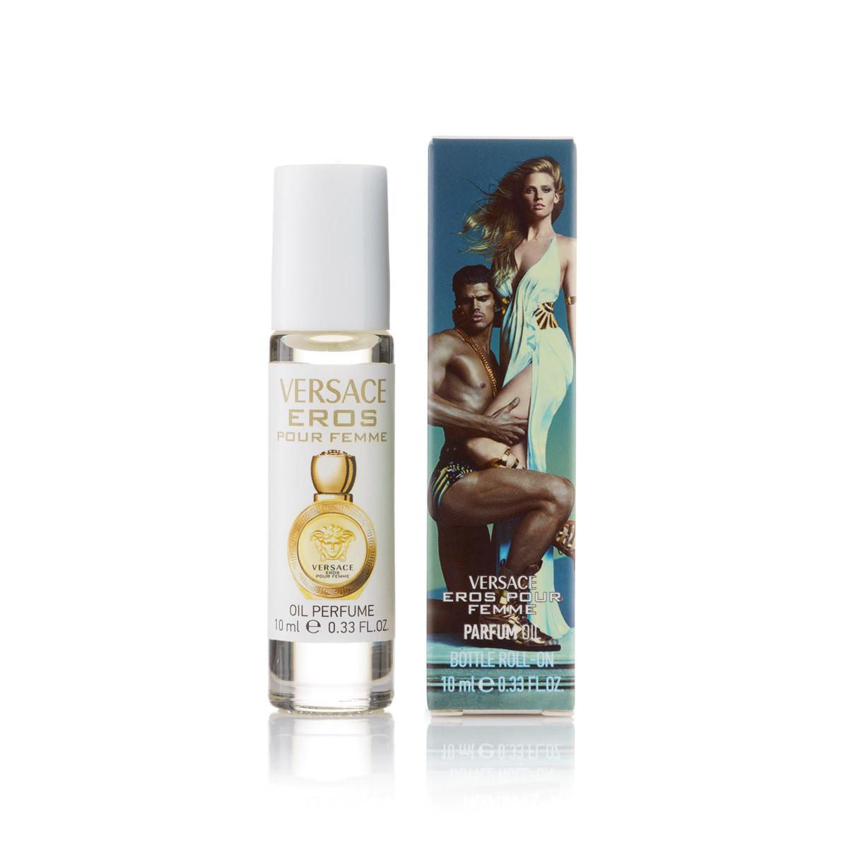 10 мл масляный женский парфюм шариковый Versace Eros Pour Femme (Ж)