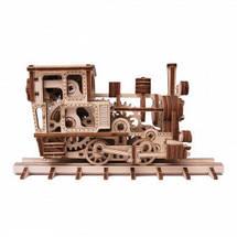 Паровозик Чаг-Чаг Wood Trick (198 деталей) - механический деревянный 3D пазл конструктор, фото 3