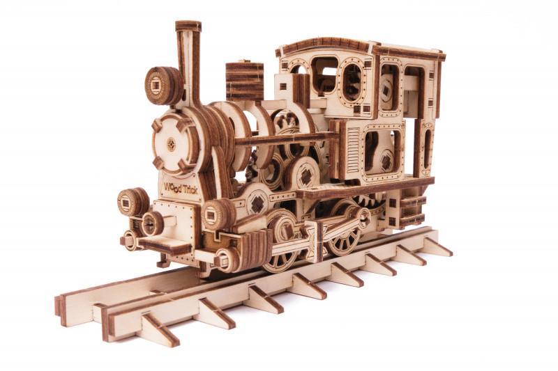 Паровозик Чаг-Чаг Wood Trick (198 деталей) - механический деревянный 3D пазл конструктор