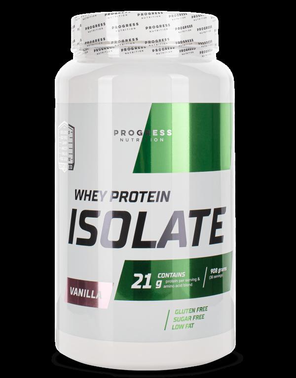 Протеїн Progress Nutrition WHEY protein isolate 908g ВАНІЛЬ