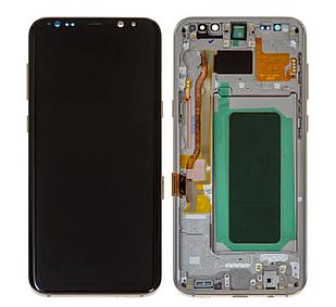 Модуль для Samsung Galaxy S8 Plus, Samsung G955, золотистый, дисплей + сенсор