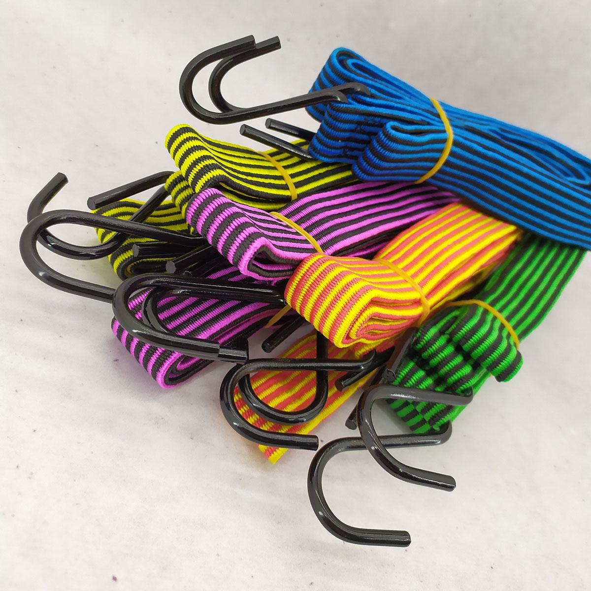 Резинка крепежная для багажа с крючками  2 м 10 шт/упак жгут резиновый