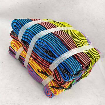 Резинка крепежная для багажа с крючками  2 м 10 шт/упак жгут резиновый, фото 2