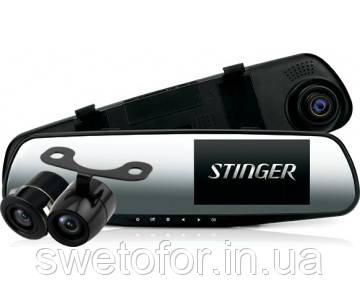 Зеркало видеорегистратор с камерой заднего вида Stinger DVR-M489FHD