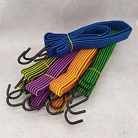 Резинка крепежная для багажа с крючками  1 м 10 шт/упак жгут резиновый