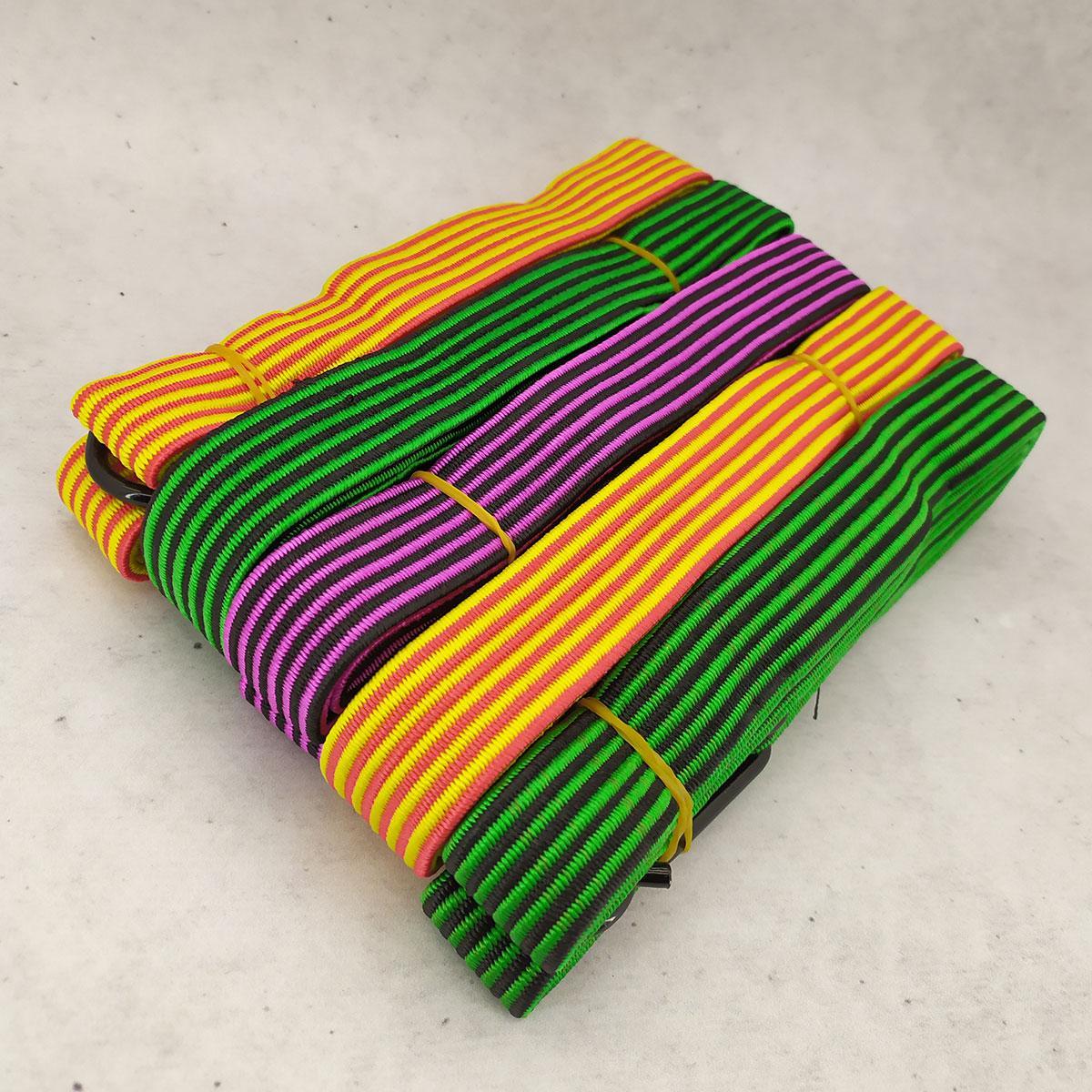 Резинка крепежная для багажа с крючками 2,5 см 1.5 м (10 шт/уп) жгут резиновый
