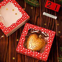 Коробка подарункова 3 см х 12 см х 12 см, Червона