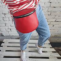 Женская сумка кросс-боди Hanna красная 25х18 см (SHAN_20O010_KR)