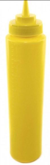Диспенсер для соусов и сиропов с мерной шкалой желтый 960 мл
