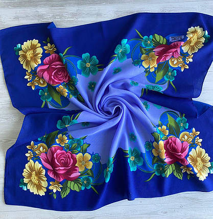 Женский шерстяной платок Цветочный Сад, фото 2