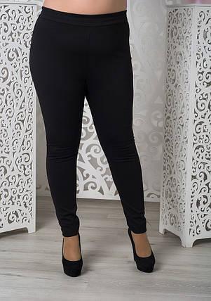 Модные женские лосины из трикотажа джерси батал  с 48 по 82  размер, фото 2