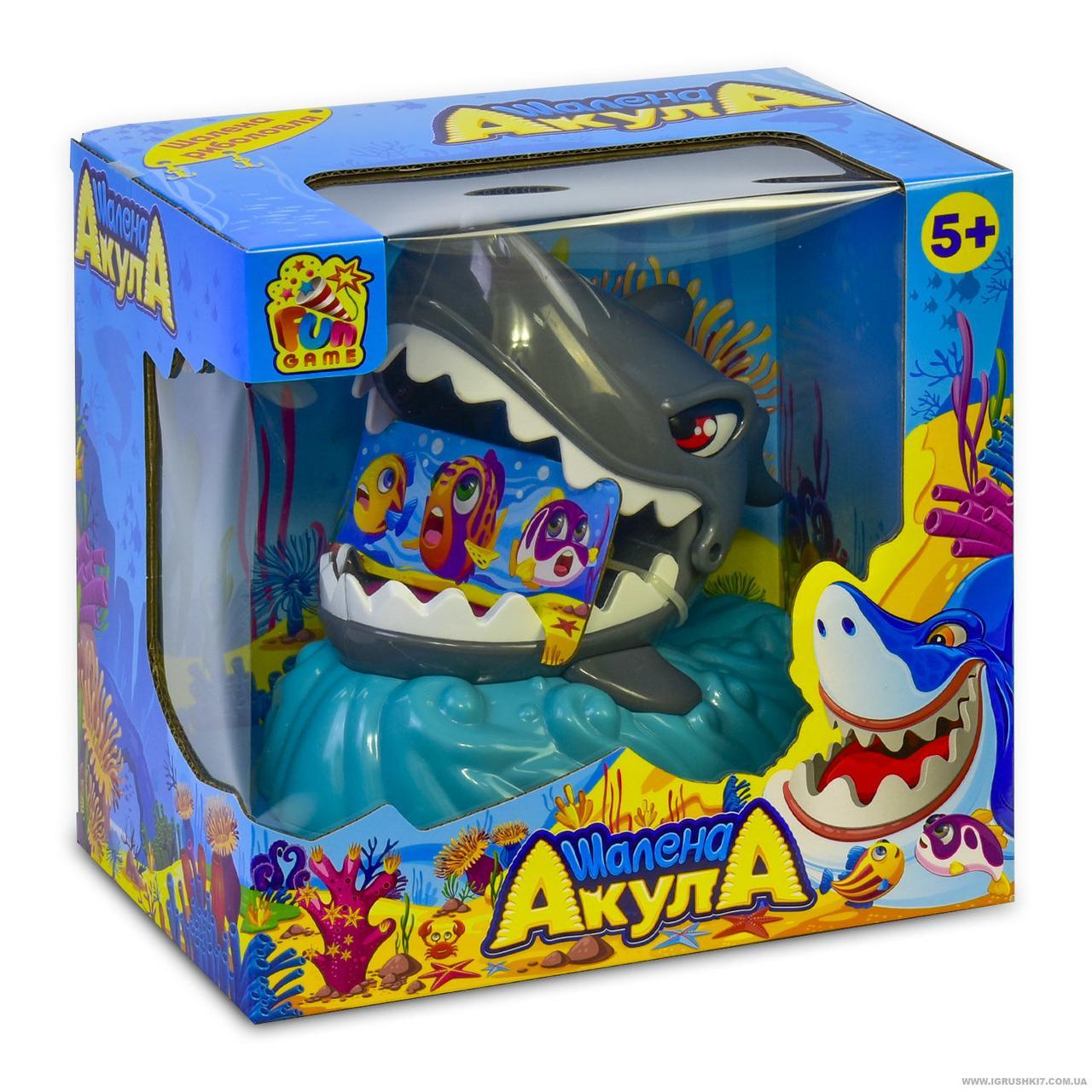 "Игра ""Шалена Акула"" 7386 (9) на батарейках, свет, звук, в коробке FUN GAME"