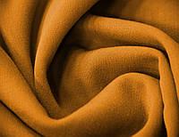 Костюмная итальянская ткань натуральная шерстяная c эластаном темного горчичного цвета однотонная GK 15