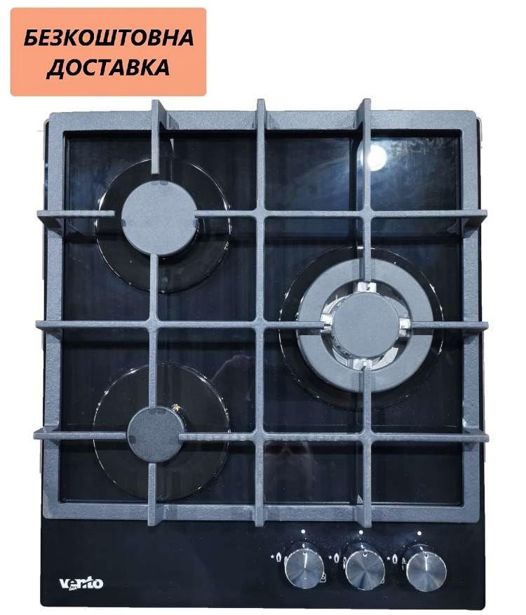 Варочная поверхность встраиваемая Ventolux HG430-M1G CEST (BK) Газовая на стекле, Черная