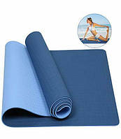 Фитнес-коврик Zelart Yoga Mat TPE 1,83мx0,61мx6мм для фитнеса, йоги, тренировок (MS-0613)