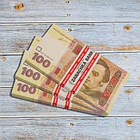 Пачка грошей по 100 гривень, фото 1