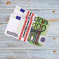 Пачка денег по 100 евро, фото 1