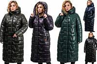 Теплое удлиненное женское зимнее пальто (батал) ,AG-309