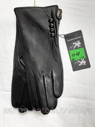 Перчатки женские оптом кожа внутри шерсть(6.5-8.5)Румыния 13-08-63238, фото 2