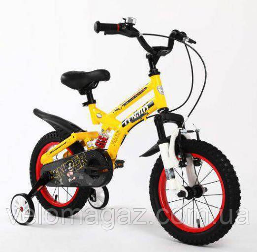Детский двухподвесной велосипед SIGMA SNIPER, желтый